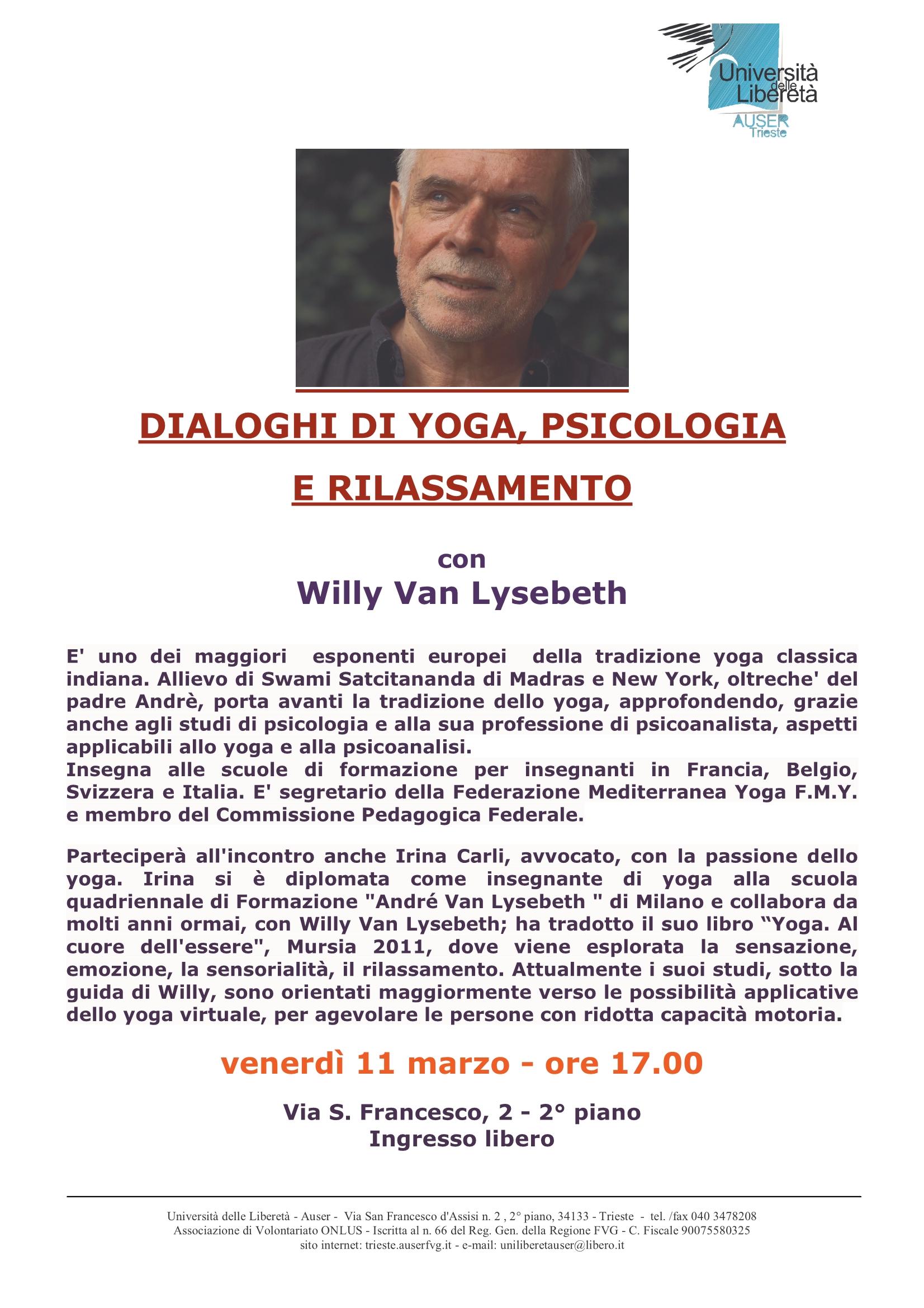 Locandina Willy Van Lysebeth