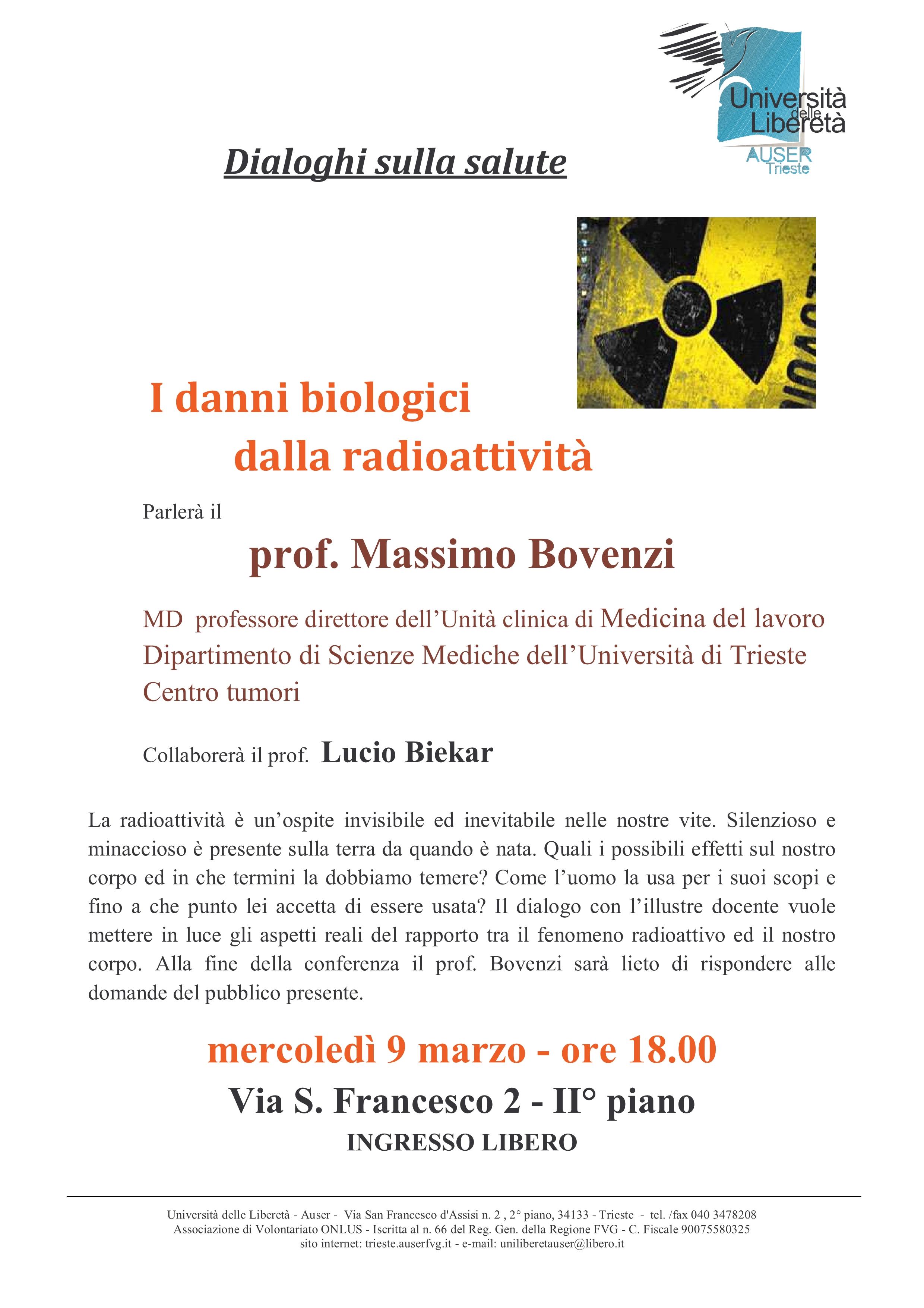 Dialoghi sulla salute - radioattività