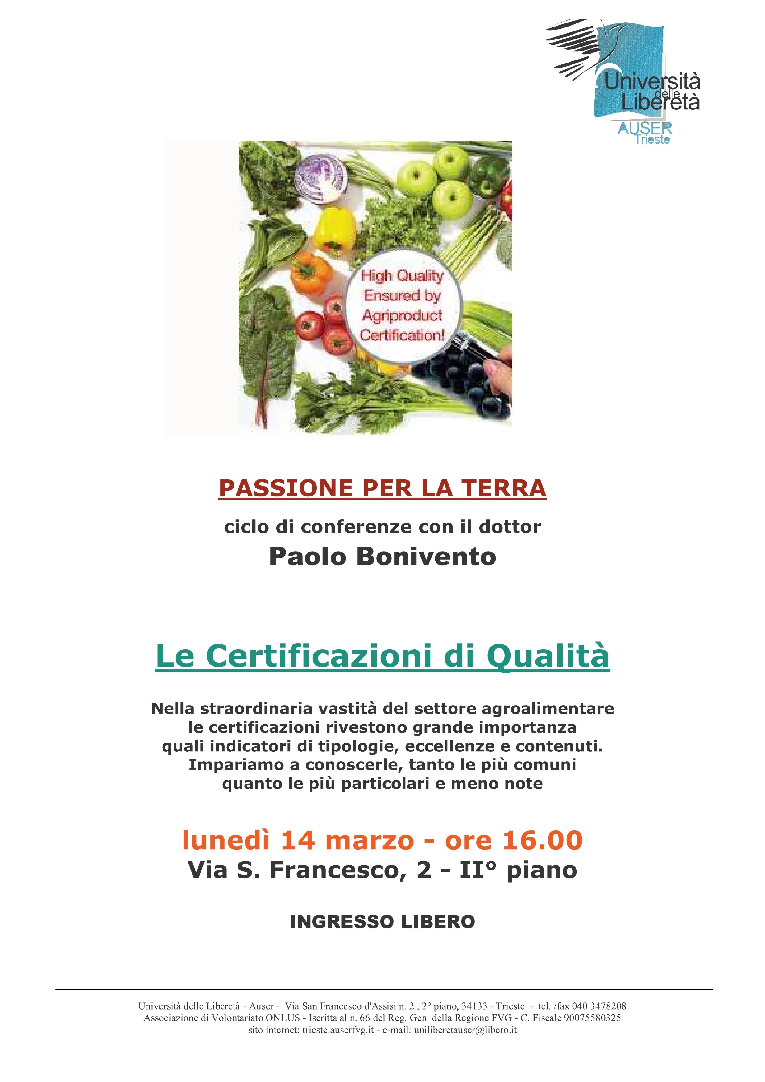 Le certificazioni di qualità agroalimentari