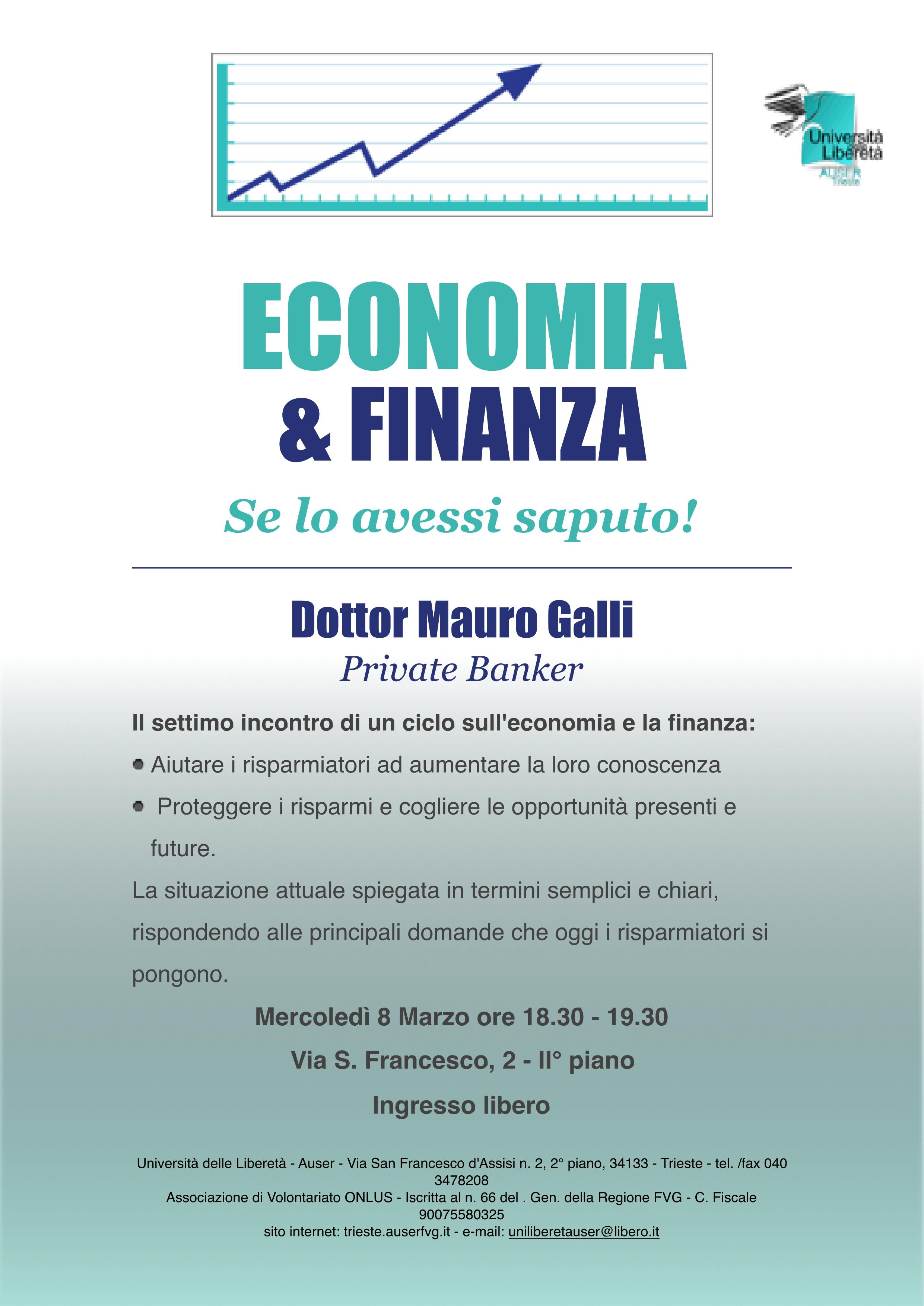 Economia e finanza 8-3-17