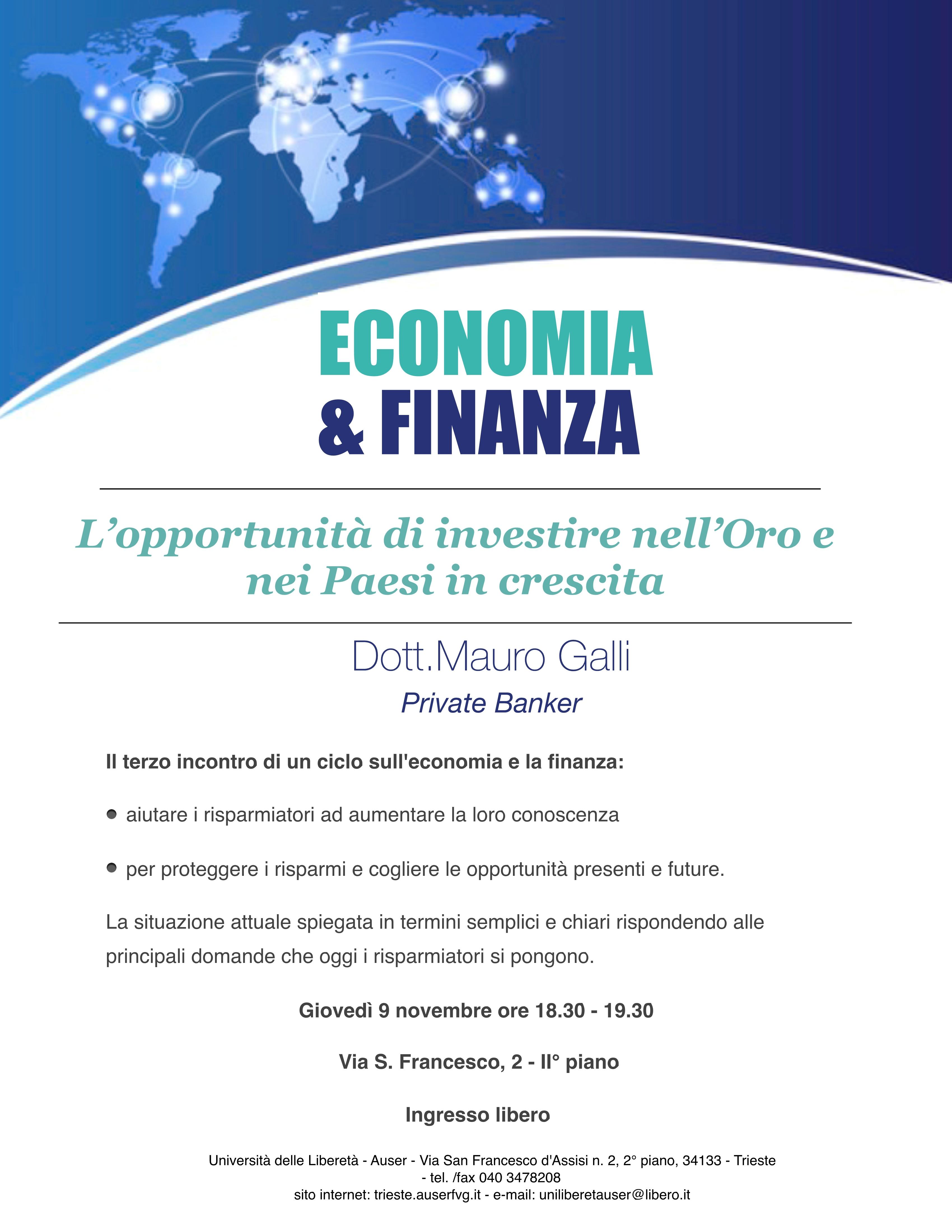 economia e finanza 9 nov