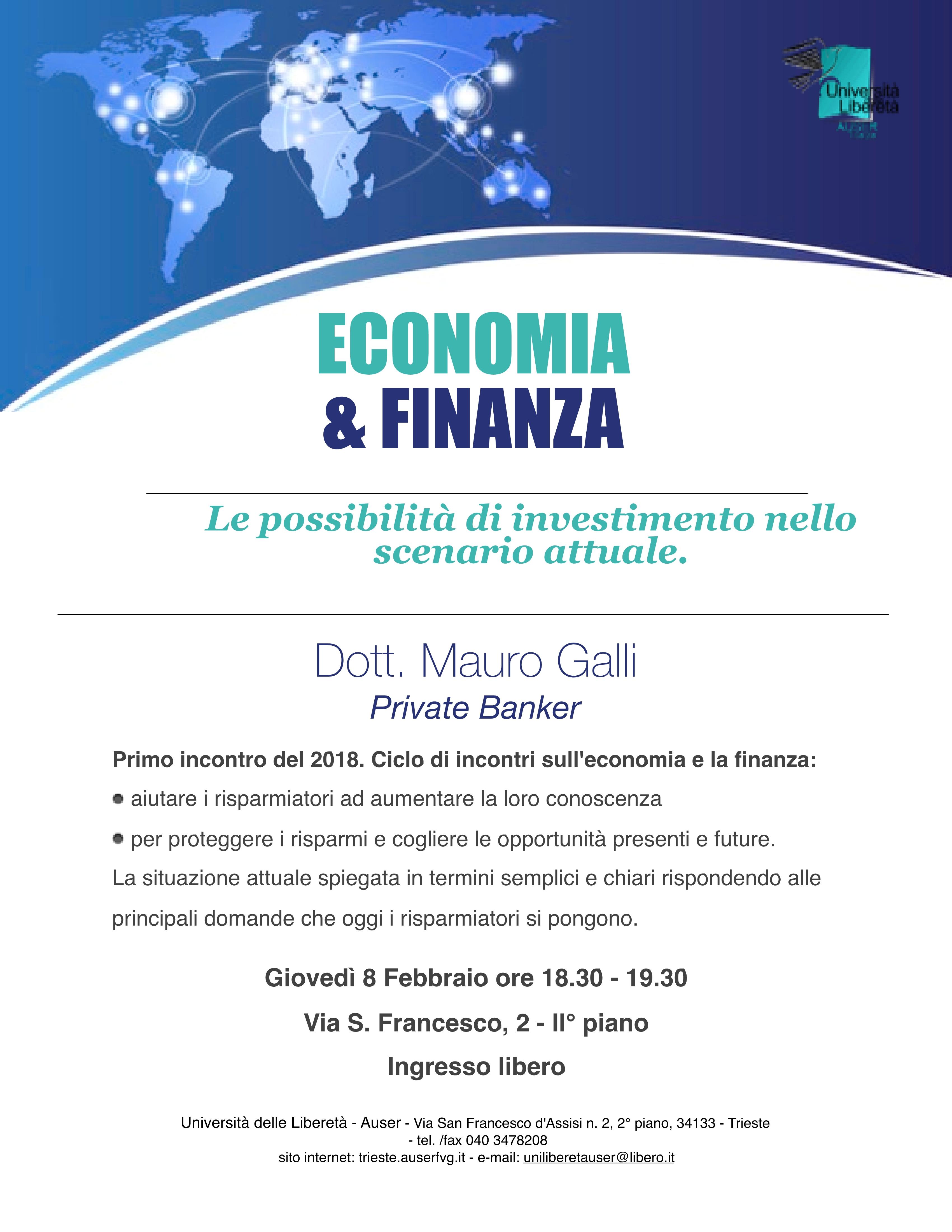 Economia e finnza 8 febbraio 20181