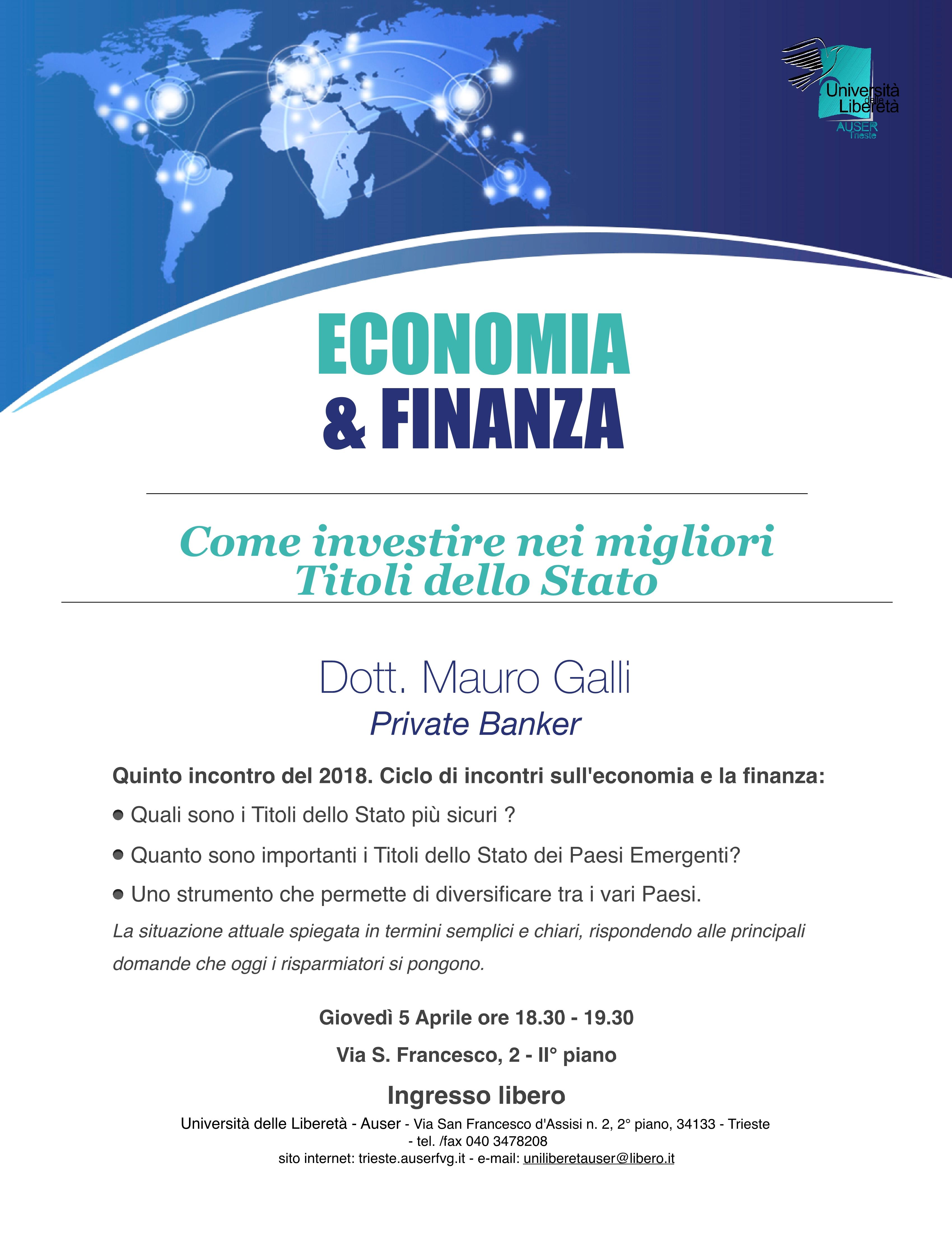 Economia e finanza 5 aprile 20181