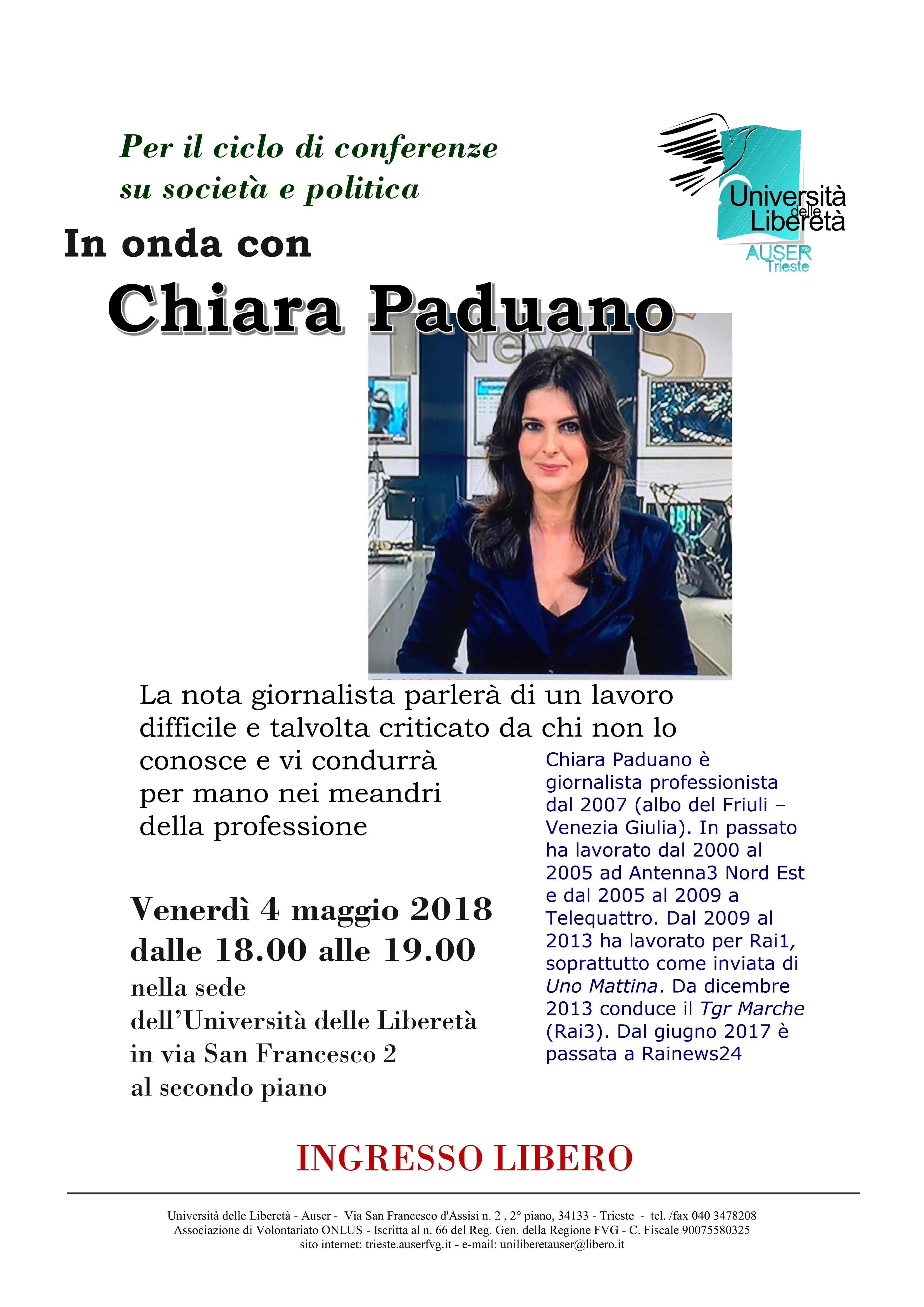 In onda con Chiara Paduano1