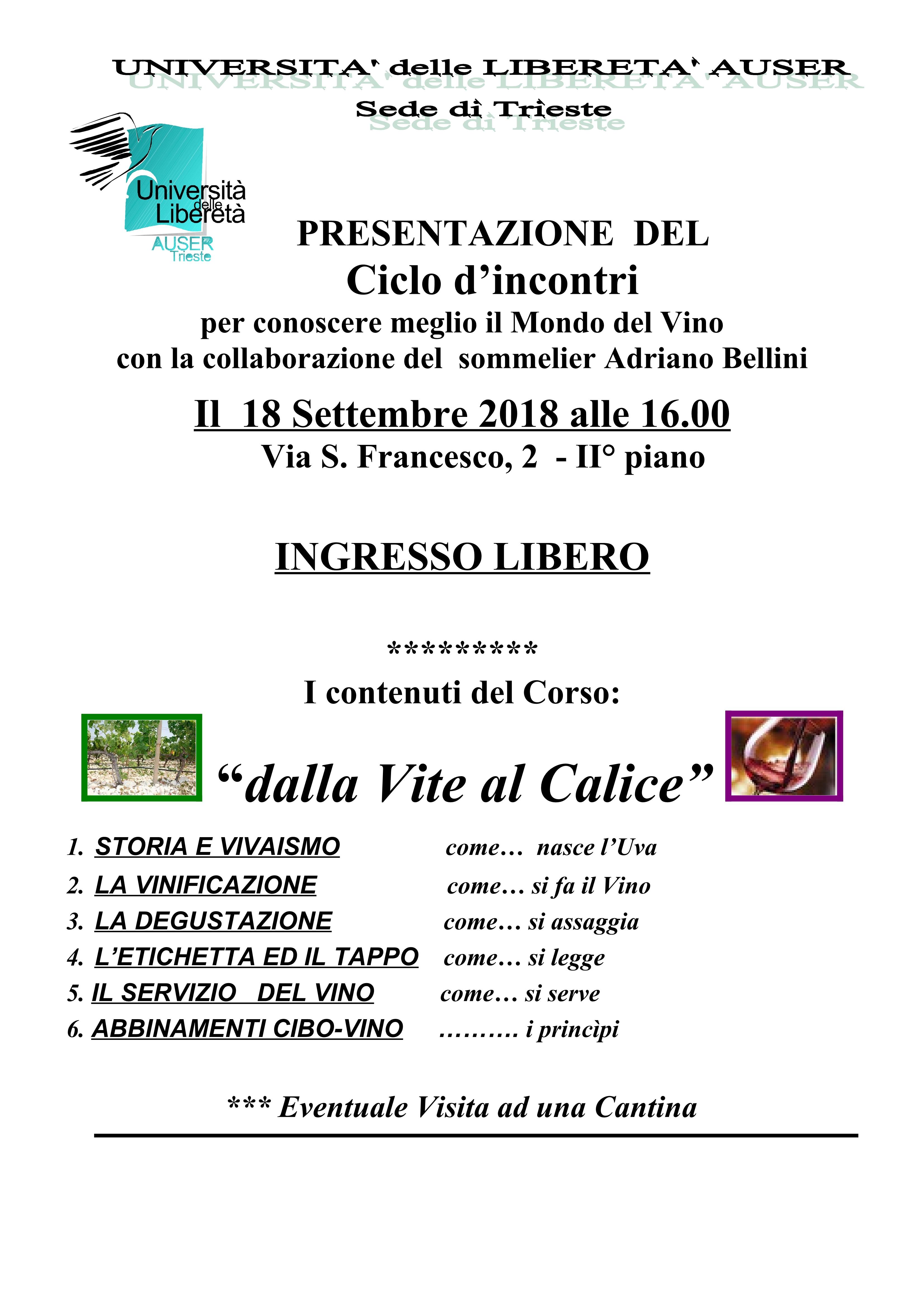 Presentazione-Dalla Vite al Calice-18 Settembre 181