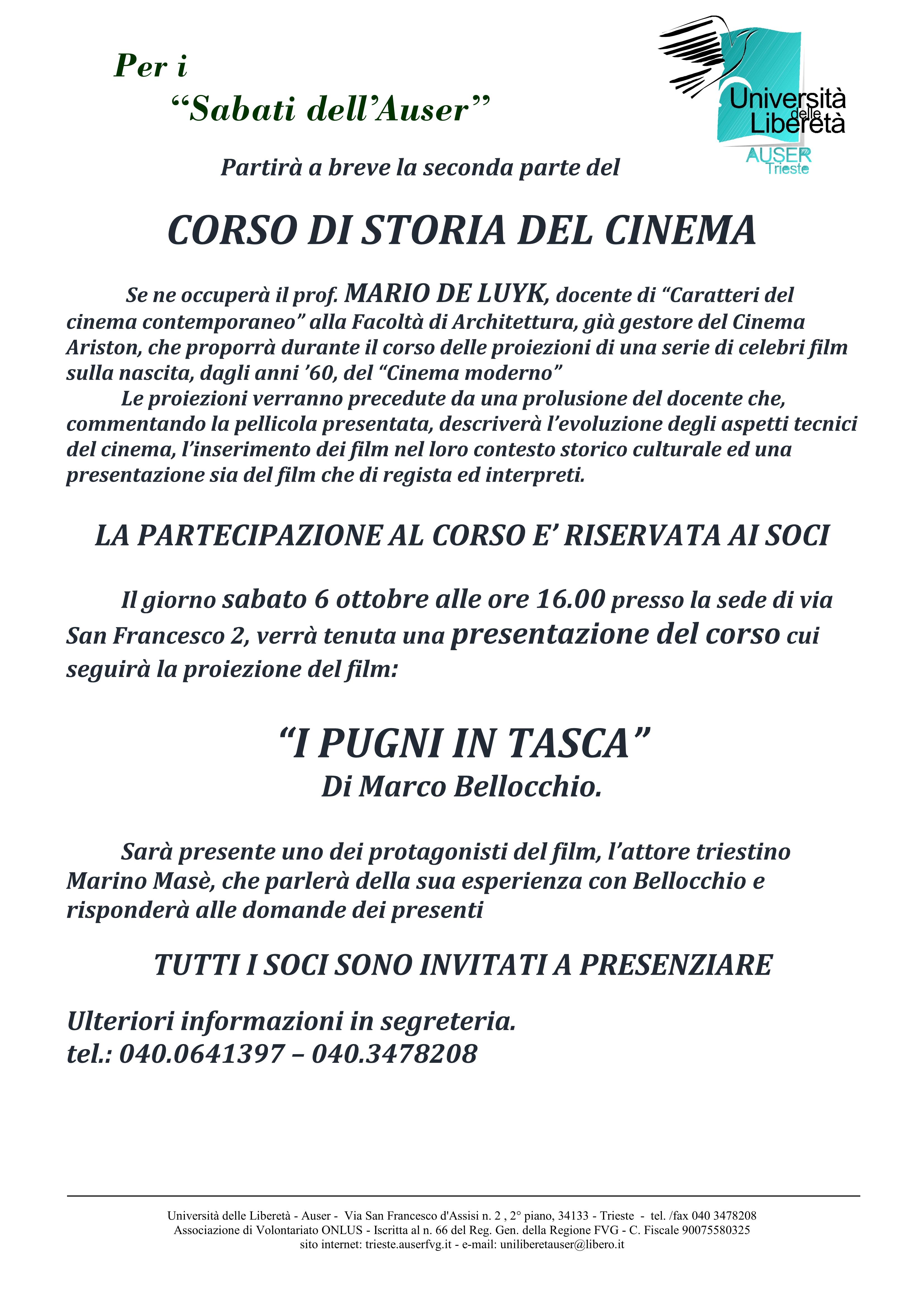 Presentazione STORIA DEL CINEMA