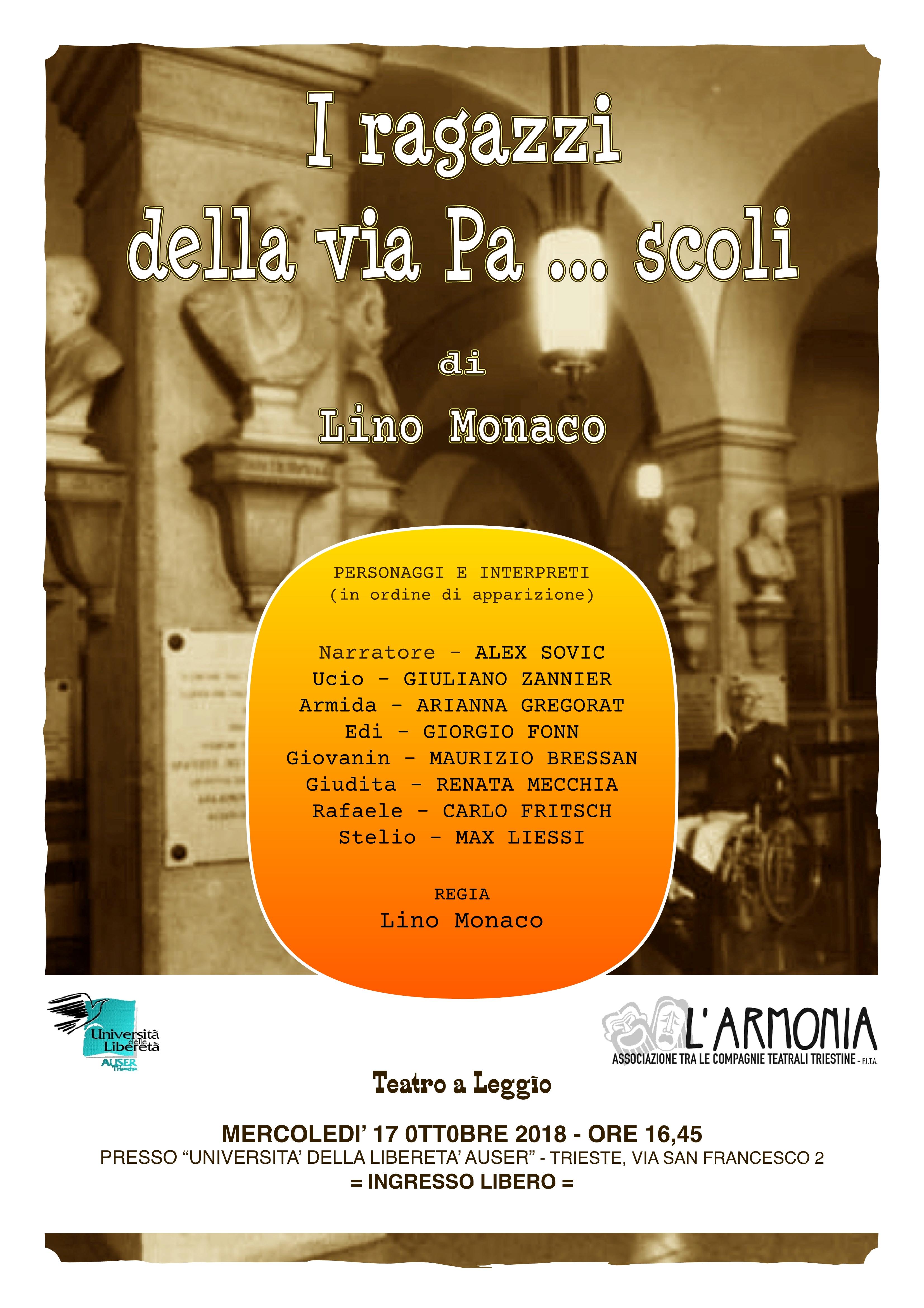 Locandina Teatro a Leggìo 17 ottobre1