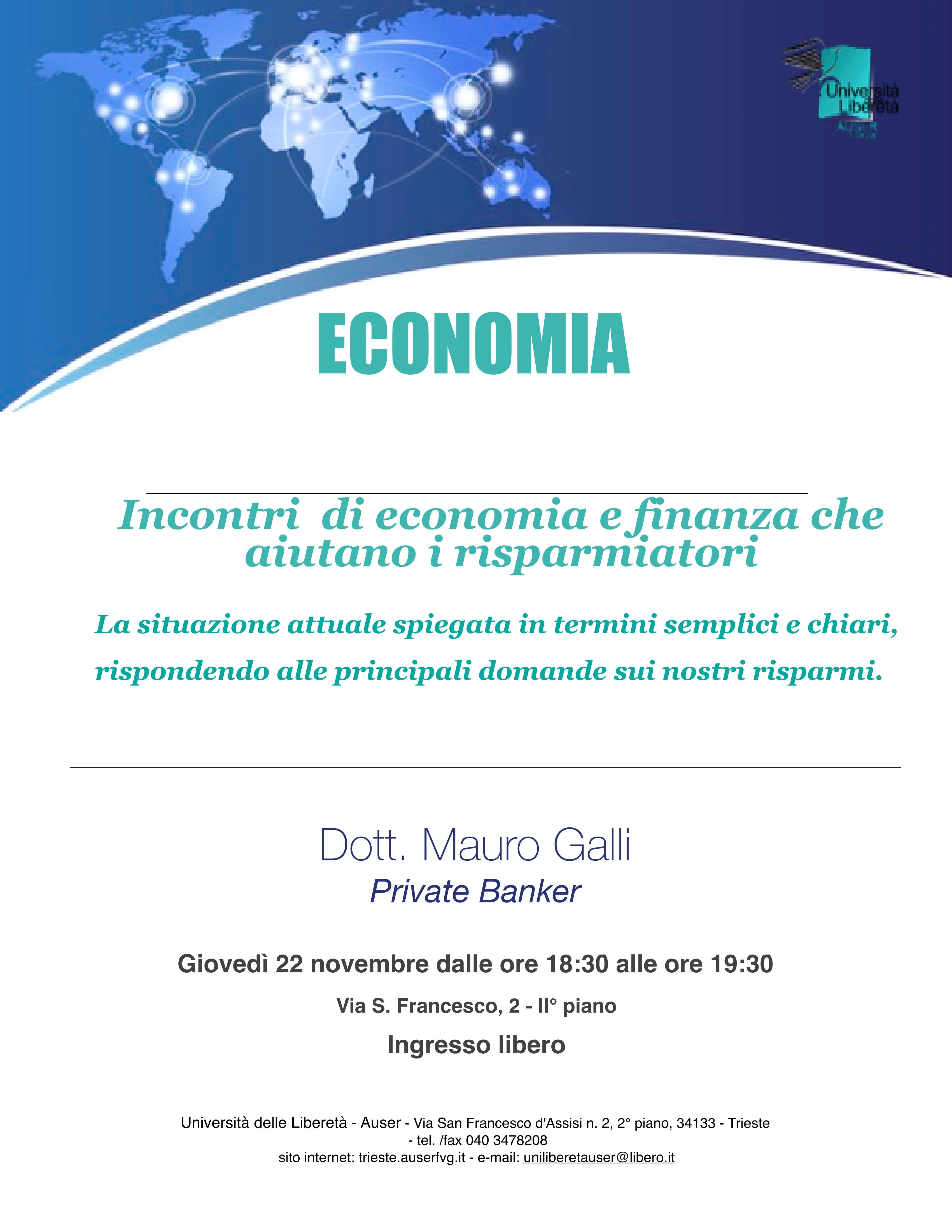 Economia e finanza 22 novembre 20181
