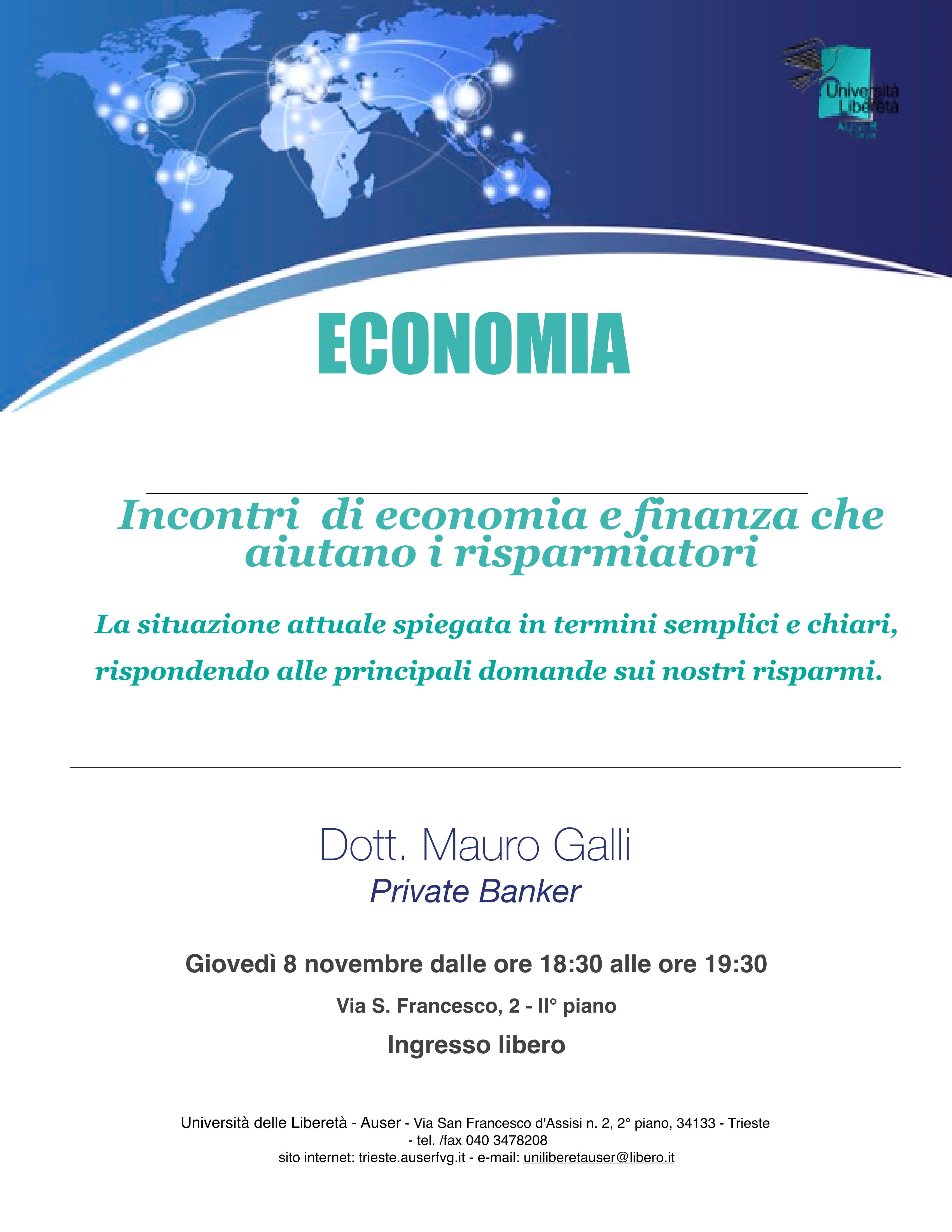 Economia e finanza 8 novembre 20181