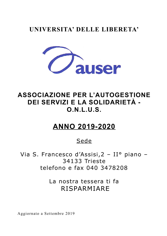 LIBRETTO CONVENZIONI UNIVERSITA aggiornato per 2019-20201